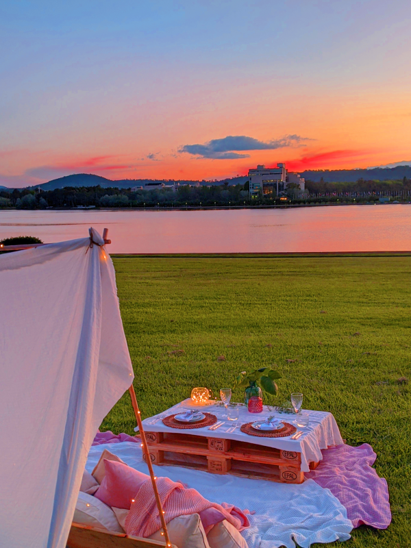 Picnic For Two Sunset